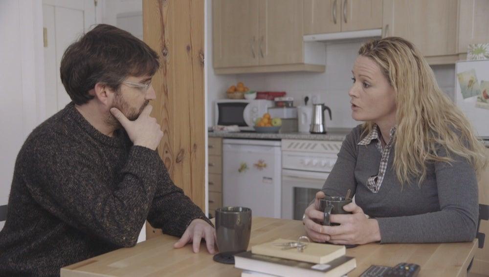 Zaida Cantera y Jordi Évole en 'Salvados'