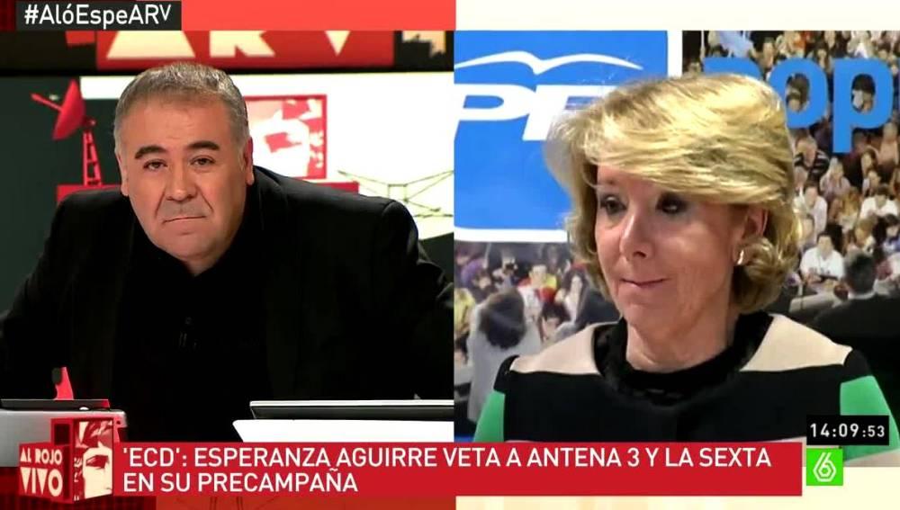 García Ferreras y Esperanza Aguirre