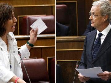 Rifirrafe entre Irene Lozano y Pedro Morenés en el Congreso