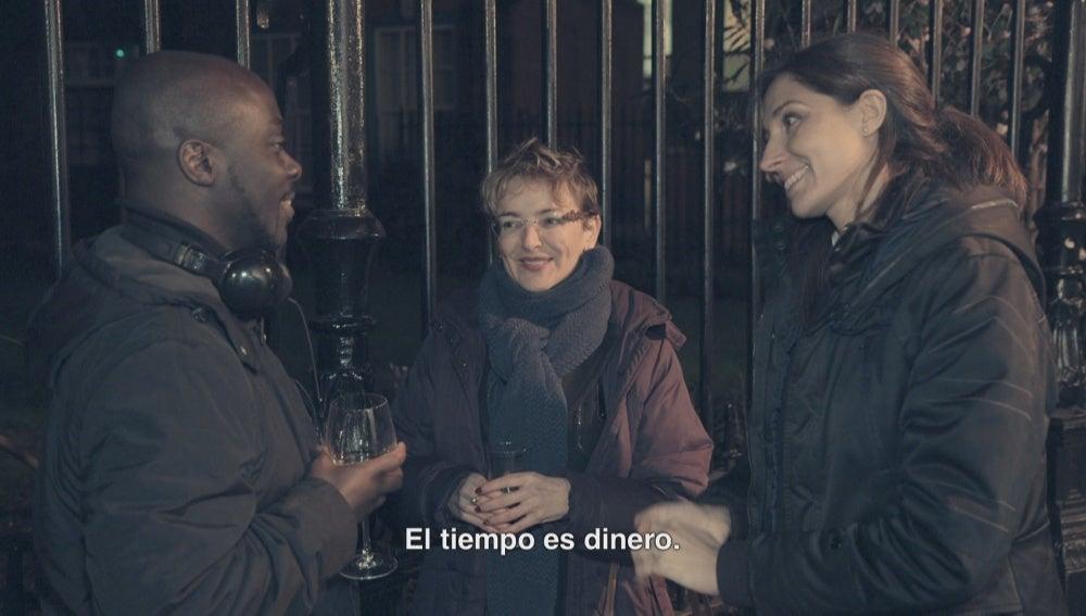 Laura Gimeno en Londres en 'Salvados'