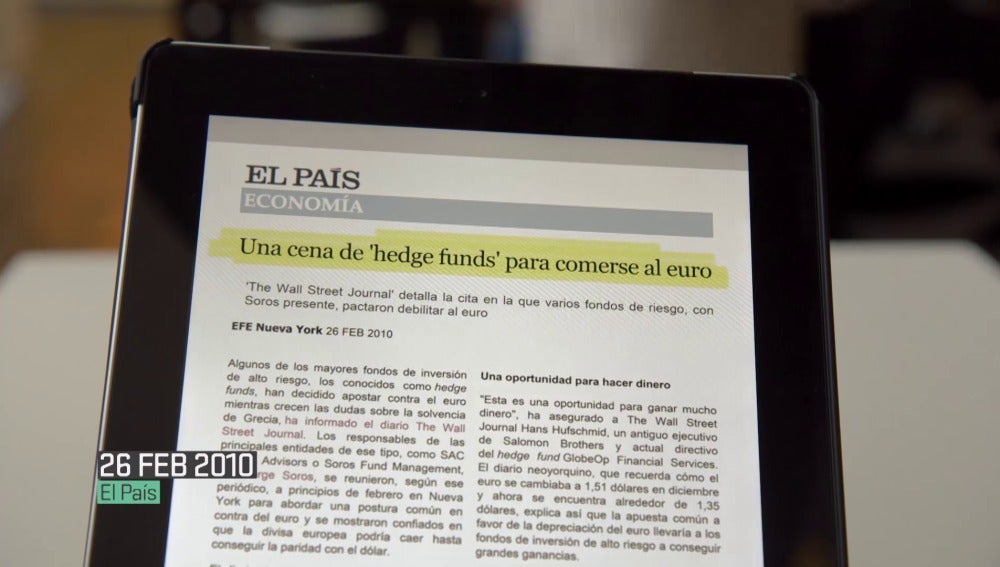 Los 'hedge funds', en Salvados