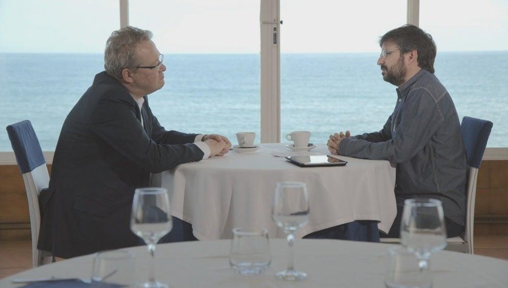 Rainer Voss y Jordi Évole en 'Salvados'