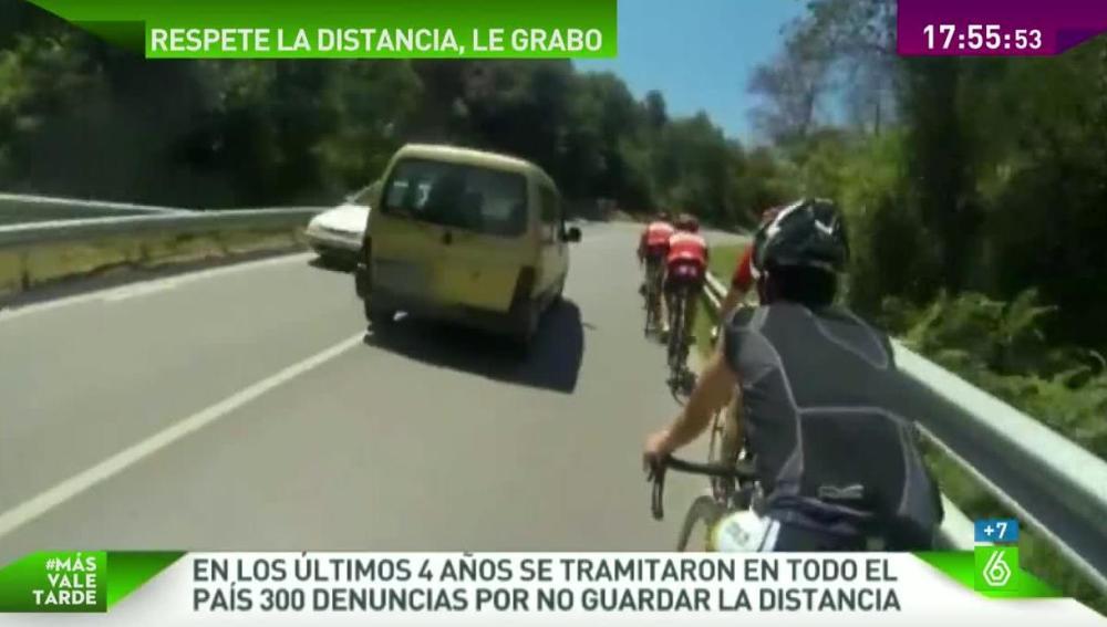 Adelantamiento peligroso a ciclistas