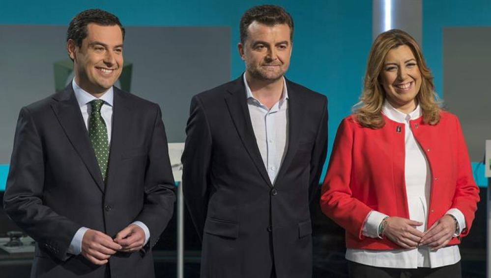 Debate entre candidatos en Andalucía