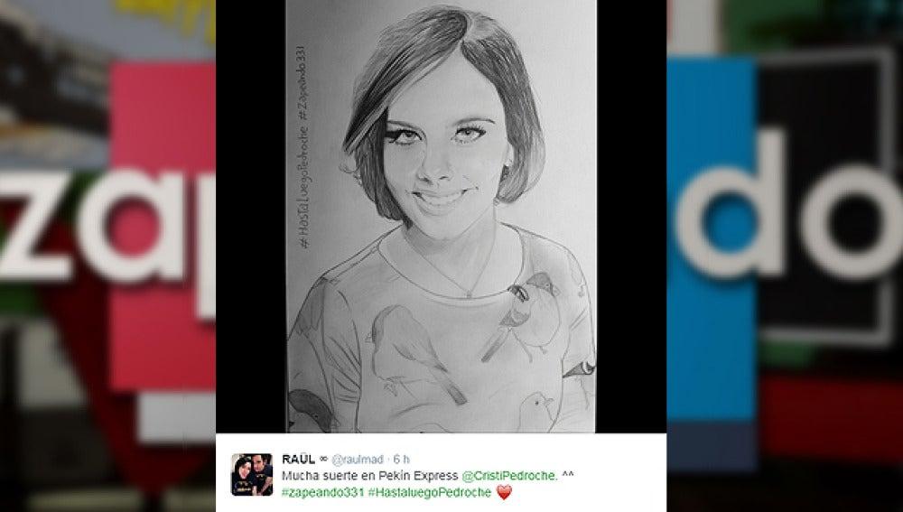 El dibujo de Raúl, espectador de Zapeando