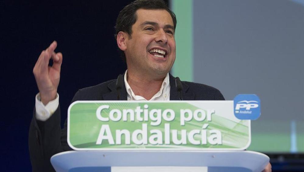 Juanma Moreno, en el cierre de campaña