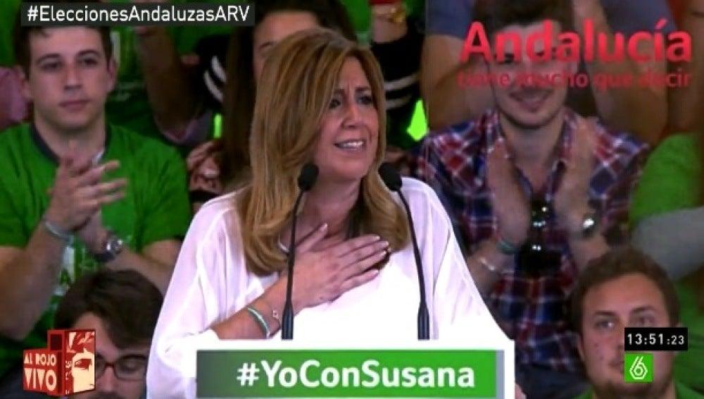 Susana Díaz durante un acto electoral