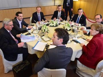 Alexis Tsipras con líderes europeos