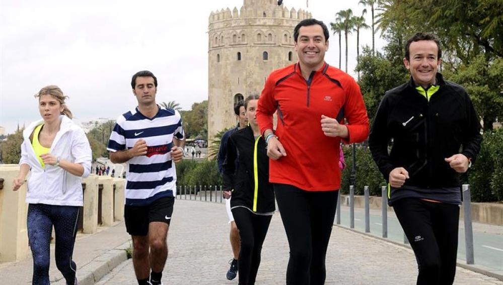 El candidato del PP andaluz, Juanma Moreno