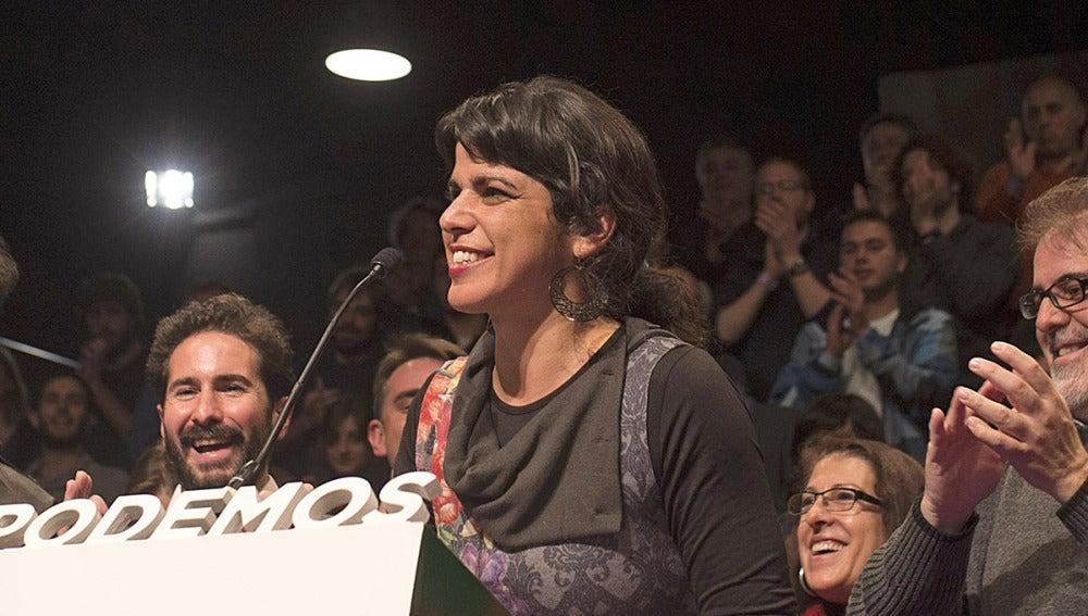 Teresa Rodríguez hace balance de los resultados obtenidos una vez terminado el escrutinio