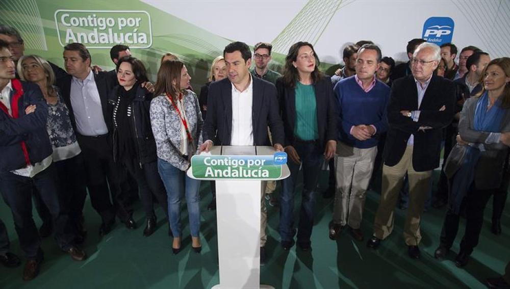 El presidente del PP andaluz, Juanma Moreno