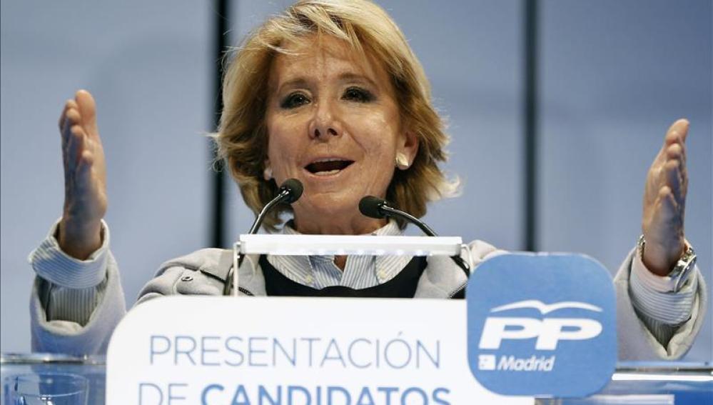 Esperanza Aguirre en un acto público
