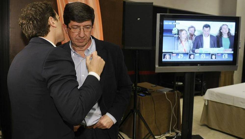 El candidato de Ciudadanos a la Presidencia de la Junta de Andalucia, Juan Marín