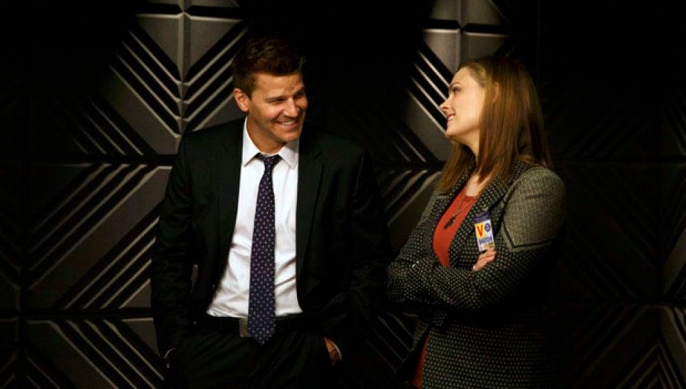 Temperance Brennan y Seeley Booth, en Bones