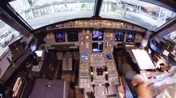Cabina del Airbus A320 siniestrado en los Alpes franceses
