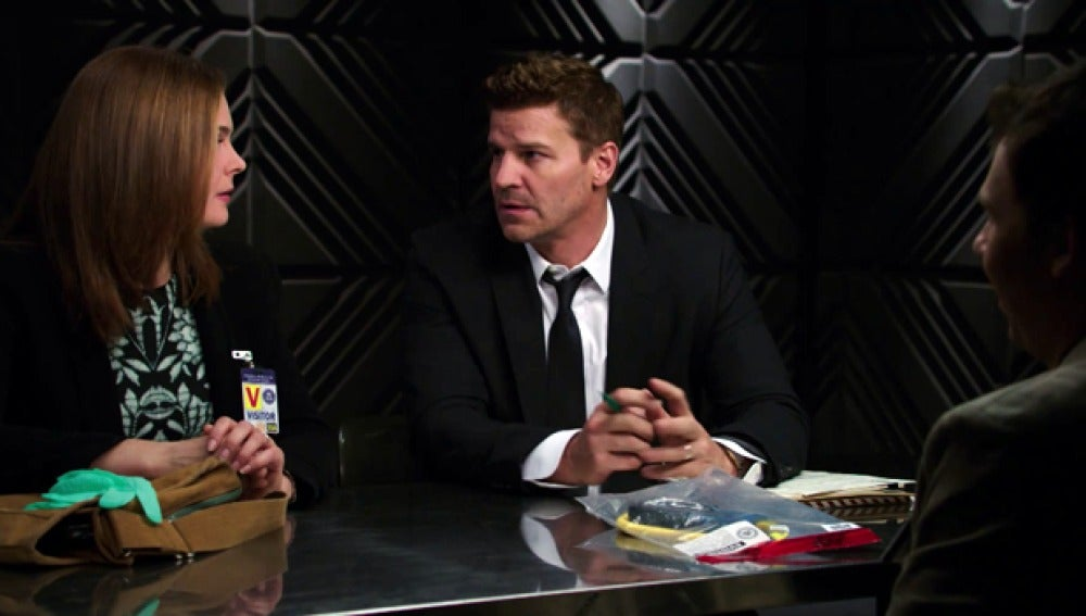 Temperance Brennan y Seeley Booth, en un interrogatorio