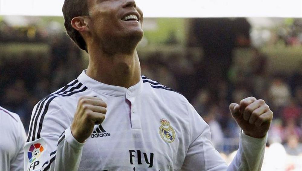 Cristiano celebra uno de los goles anotados ante el conjunto andaluz