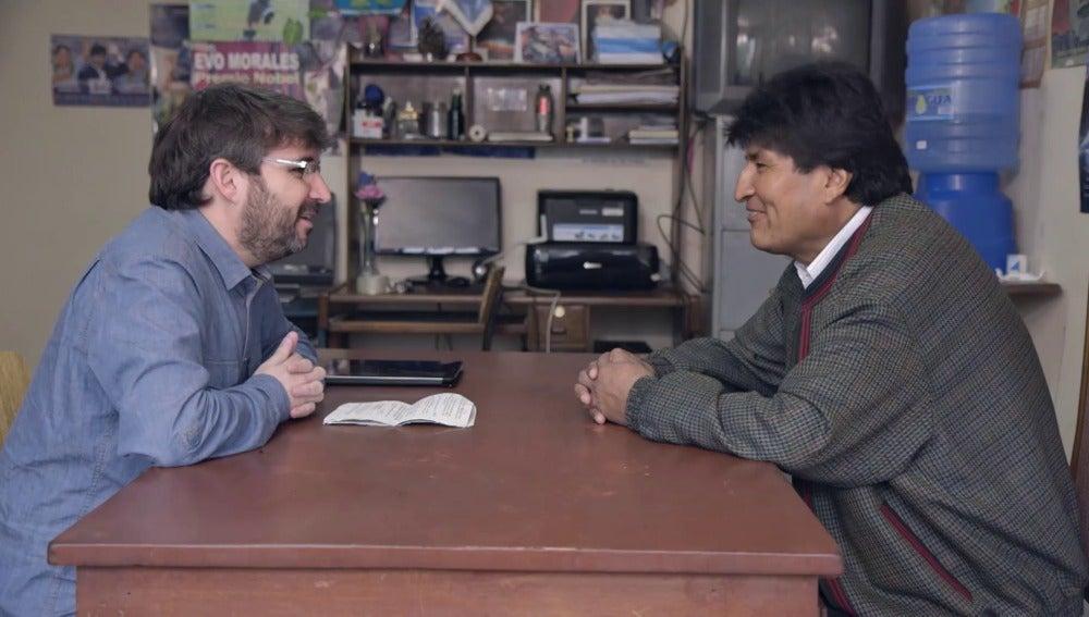 Jordi Évole y Evo Morales