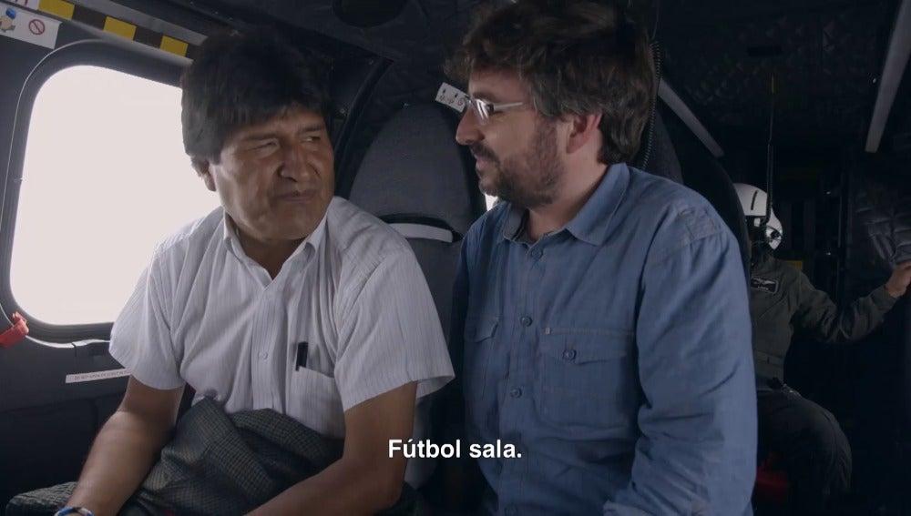 Evo Morales y Jordi Évole