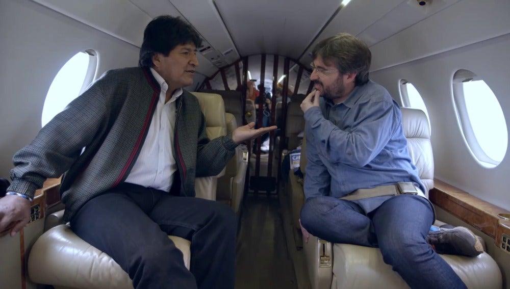 Jordi Évole viaja con Evo Morales