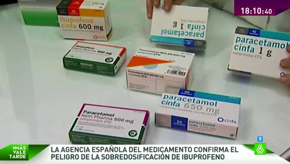 Diversas cajas de Ibuprofenos