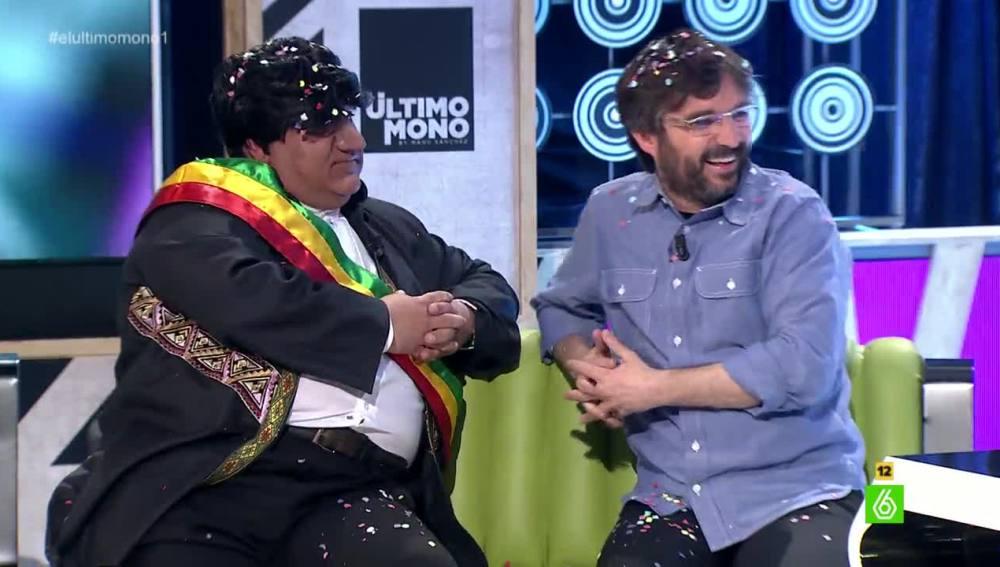 Un particular Evo Morales y Jordi Évole