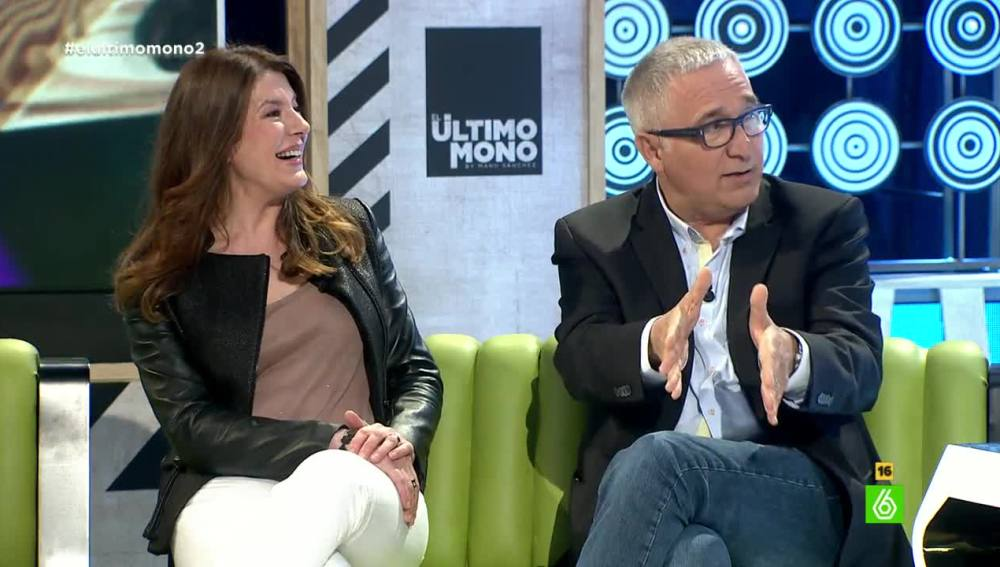Xavier Sardá junto a Valérie Tasso