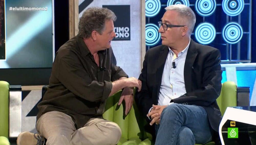 Juan Luis Cano, junto a Xavier Sardá