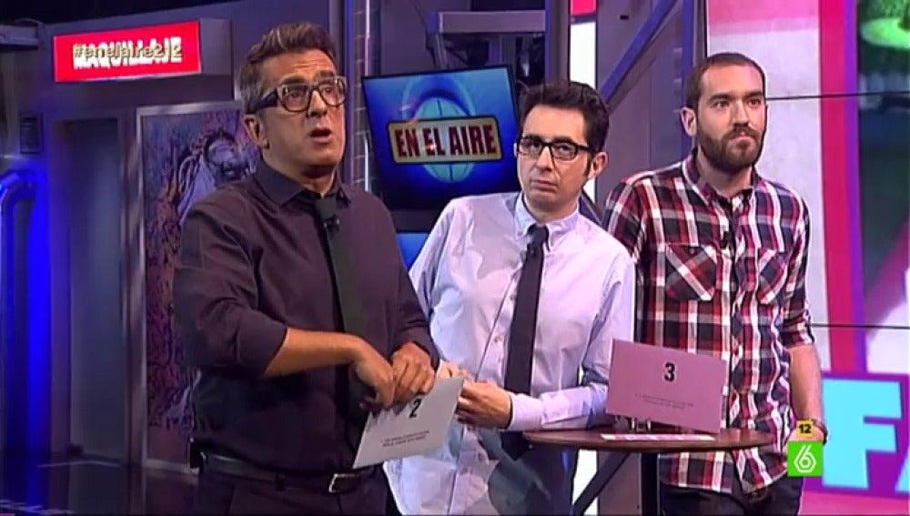 Buenafuente, romero y Ponce en 'Fake o no fake'