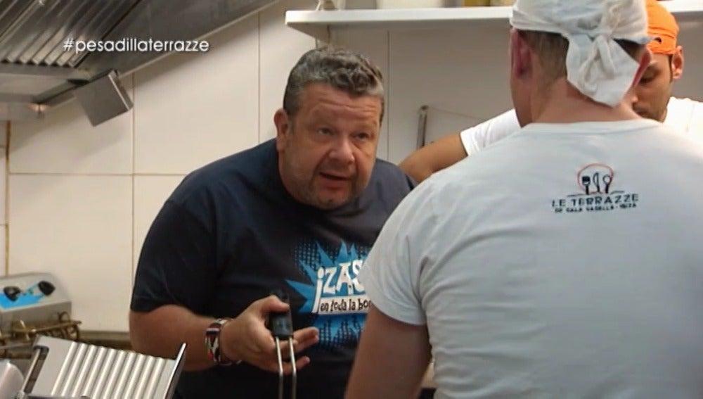 """Chicote, al cocinero: """"Me dan ganas de freírtelo yo y decir 'ahora te lo comes por mis cojones'"""""""