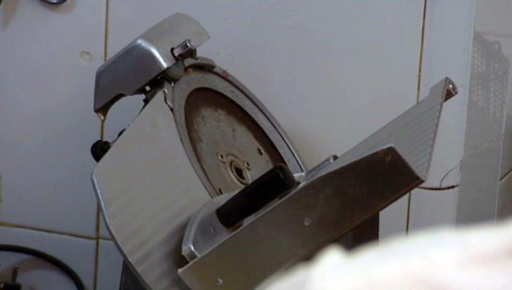 La máquina que corta fiambre de 'Le Terrazze'