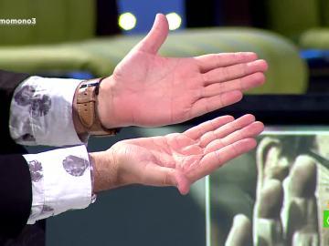 Las manos de Manu Sánchez