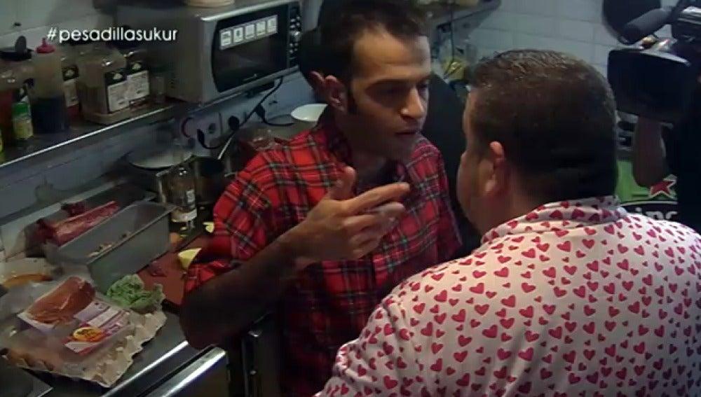 Martínez se encara al chef Alberto Chicote