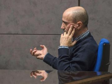 Juan Carlos Aguilar, el falso monje Shaolin, durante su juicio por asesinato