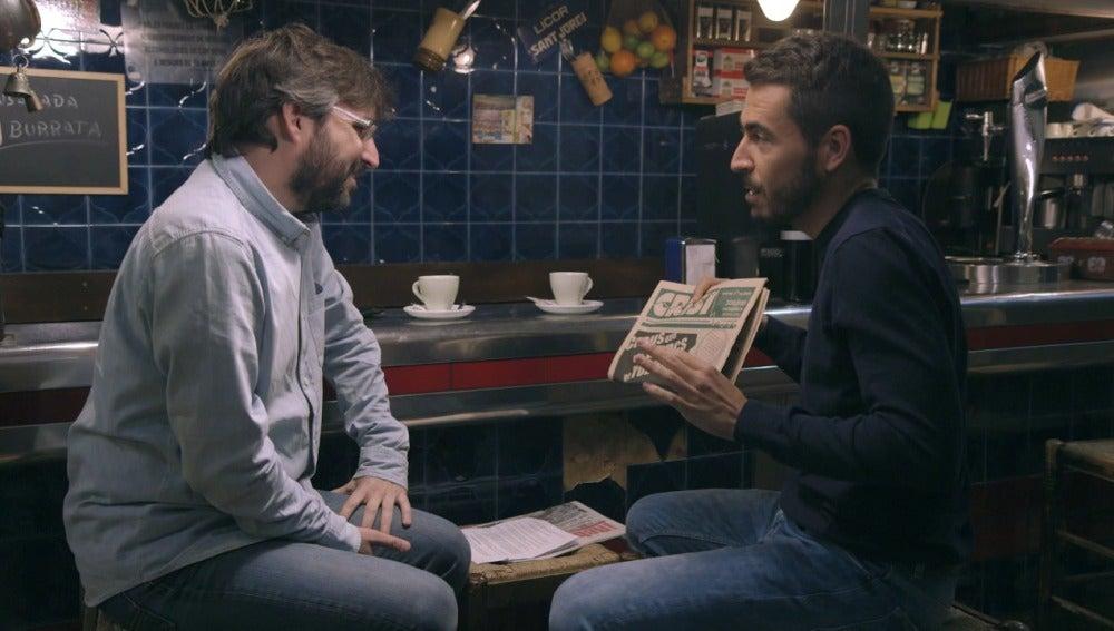 Jordi Évole y Jesús García en 'Salvados'