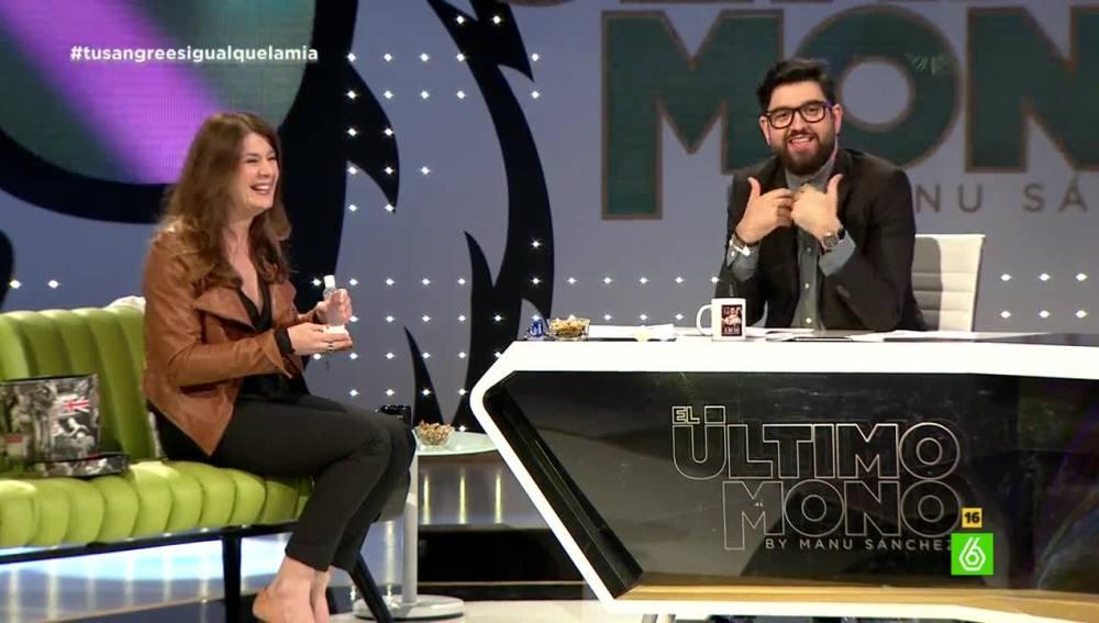 Valérie Tasso y Manu Sánchez, en 'El Último Mono'