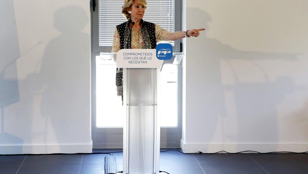 Esperanza Aguirre, candidata a la Alcaldía de Madrid