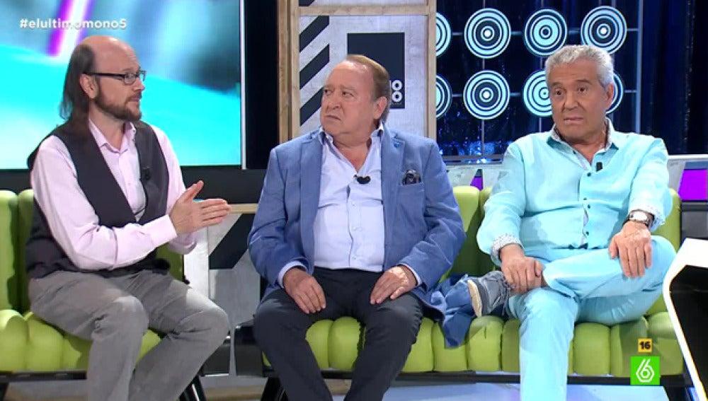 Fernando Esteso, Andrés Pajares y Santiago Segura en 'El Último Mono'