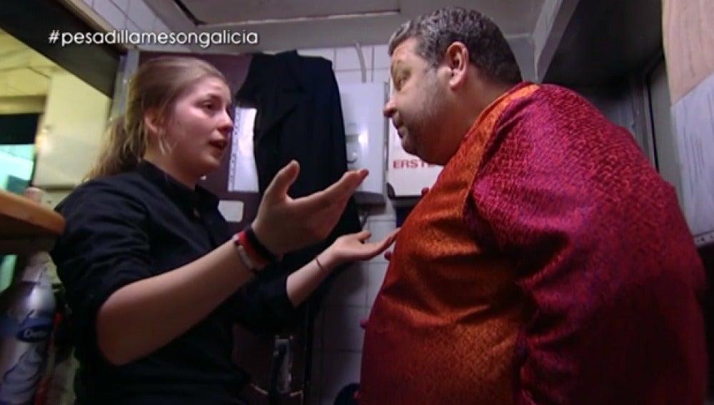 Alba estalla con Alberto Chicote