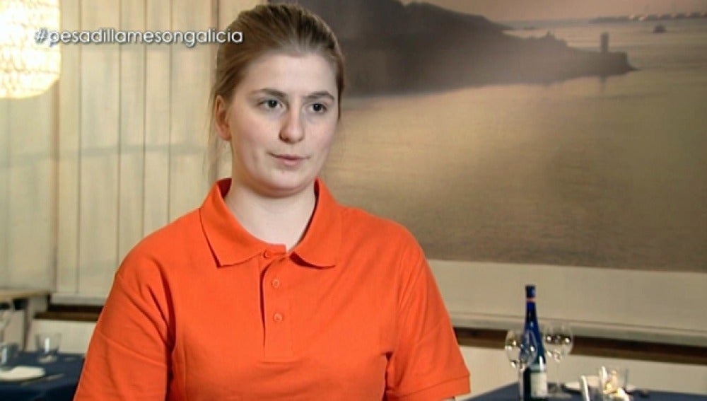 Alba, camarera del 'Mesón Galicia'