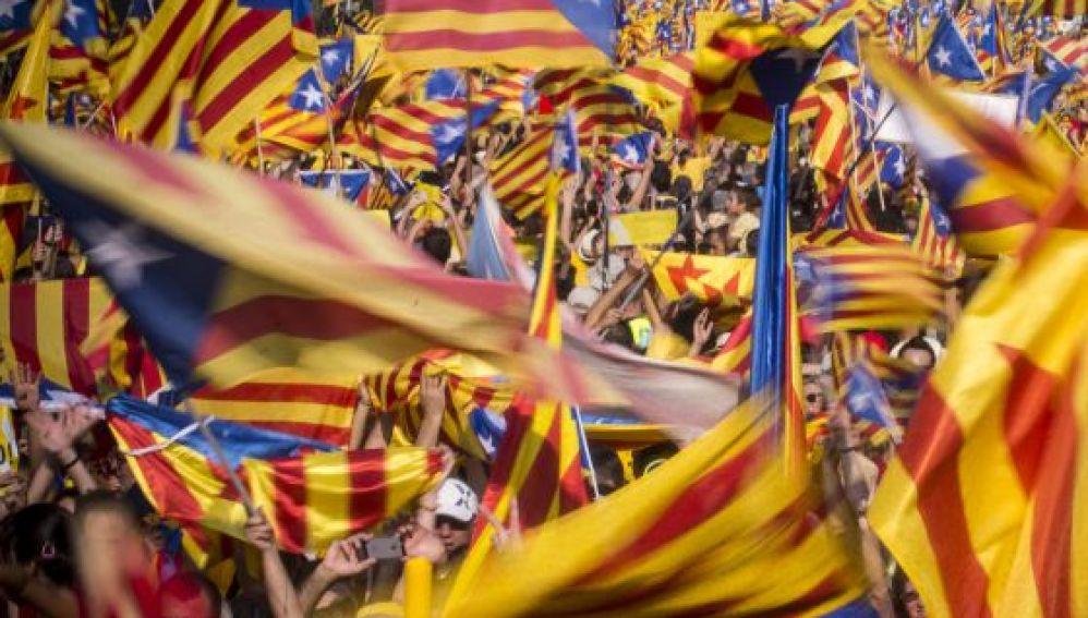 Esteladas en Cataluña