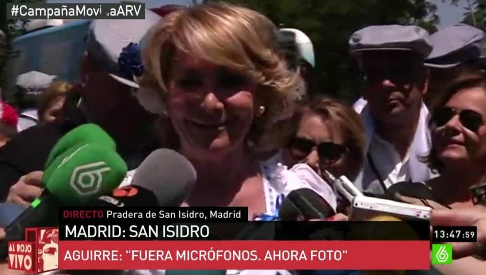 Esperanza Aguirre en San Isidro