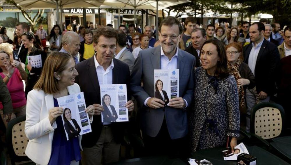 Mariano Rajoy, en un acto en Galicia