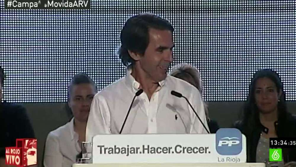 Aznar durante un mitin