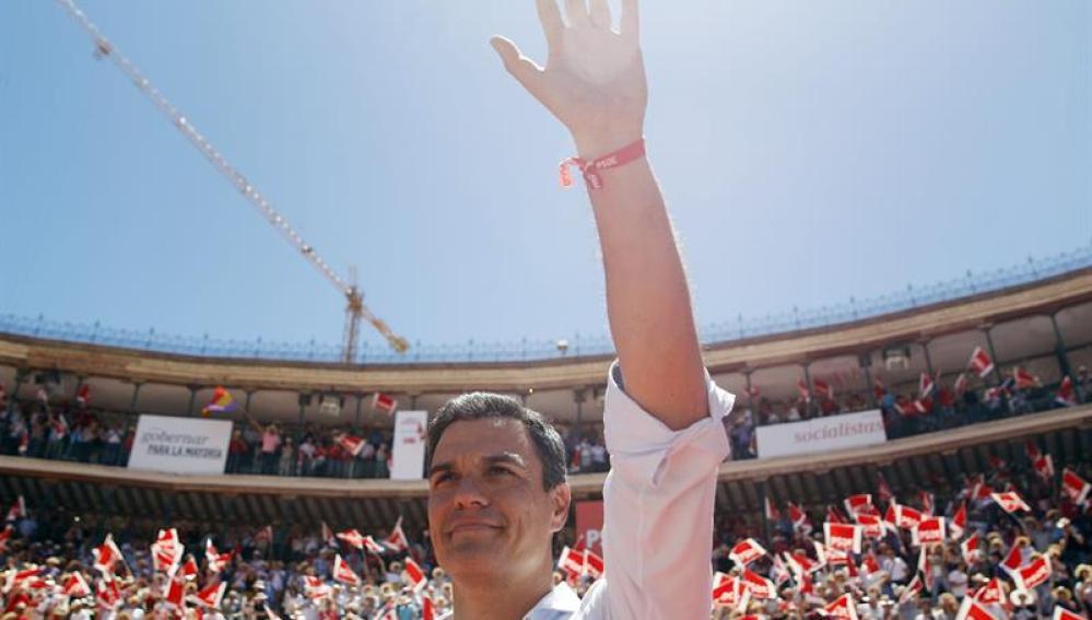 Sánchez en un acto en Valencia