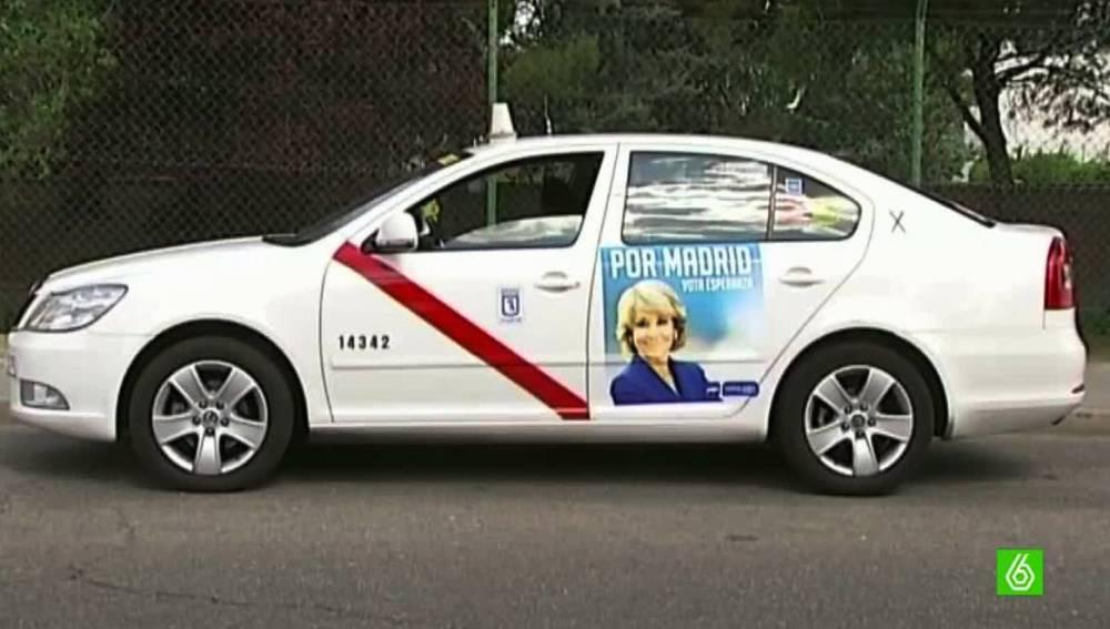 Taxi con la imagen de Aguirre