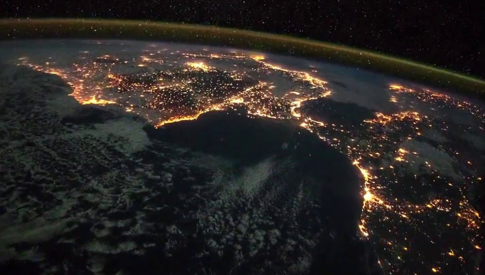 Imagen de la Península española desde el espacio