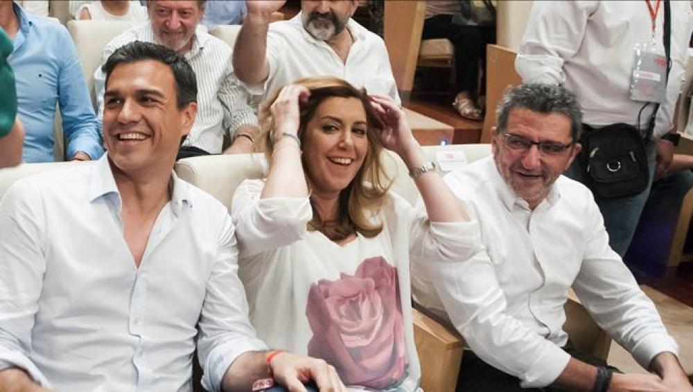 Pedro Sánchez y Susana Díaz en un acto electoral