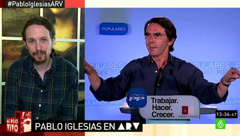 Pablo Iglesias habla sobre Aznar