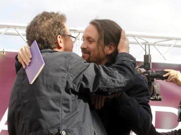Pablo Iglesias y su padre, Javier Iglesias